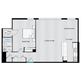Shirlington House A1H Floor Plan