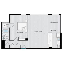 Shirlington House A1H Floor Plan