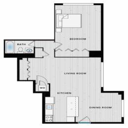 Shirlington House A1I Floorplan
